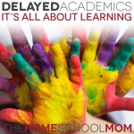 TheHomeSchoolMom: Delayed Academics - It's all about learning