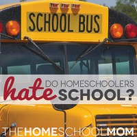 TheHomeSchoolMom Blog: Do Homeschoolers Hate Schools?