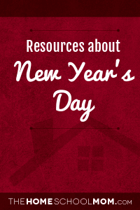 Homeschool resources for New Year's Day