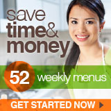 Save hundreds of dollars and hours of time using dinner menu plans